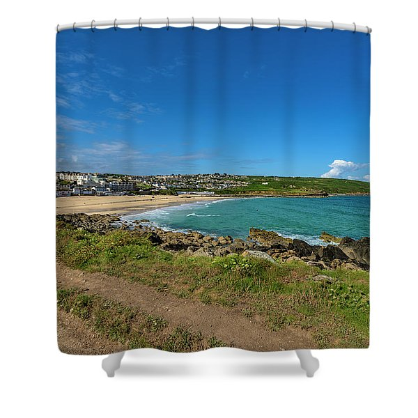 Porthmeor Beach - St Ives Cornwall Shower Curtain