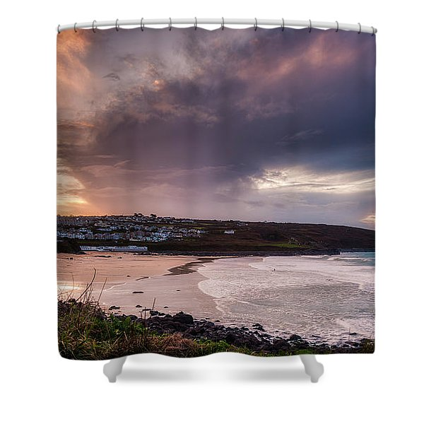 Porthmeor In The Sky Shower Curtain