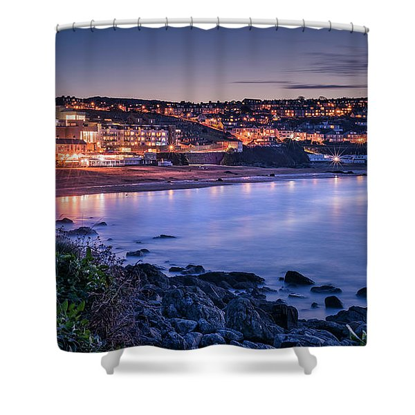 Porthmeor - Long Exposure Shower Curtain
