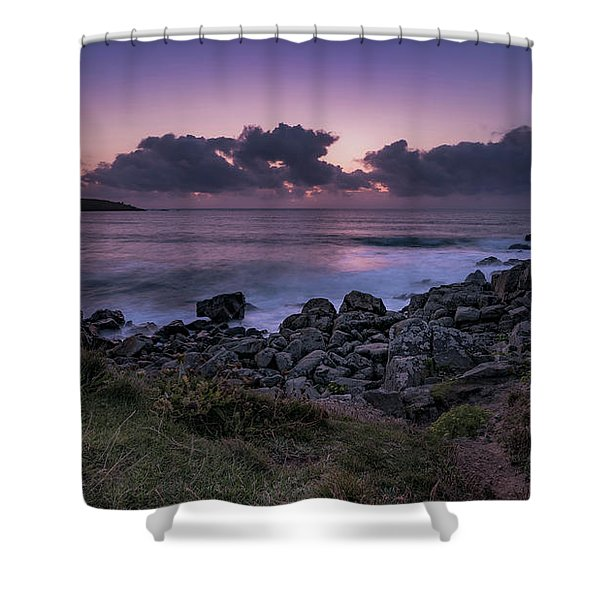Porthmeor Sunset - Cornwall Shower Curtain