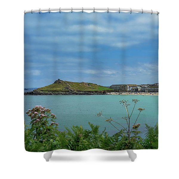Porthmeor View On The Island Shower Curtain