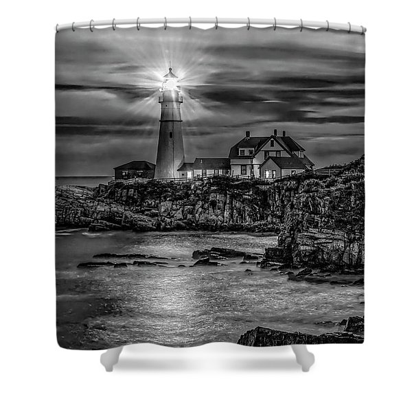 Portland Lighthouse 7363 Shower Curtain