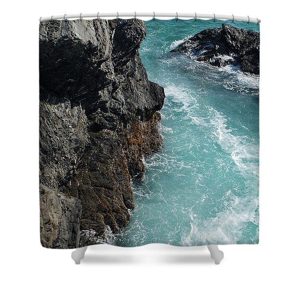 Porto Covo Cliff Views Shower Curtain