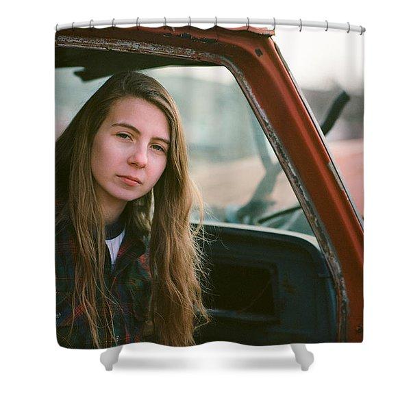 Portrait In A Truck Shower Curtain