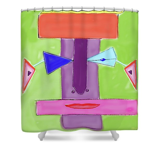 Portrait Of Mom Shower Curtain