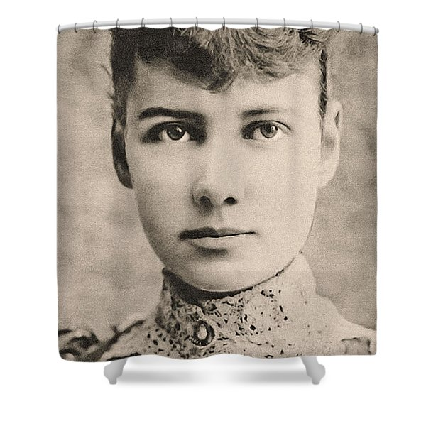 Portrait Of Nellie Bly, Circa 1890 Shower Curtain