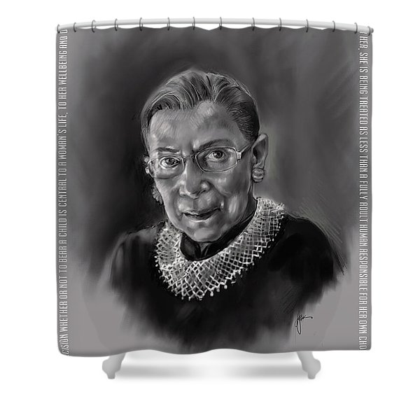Portrait Of Ruth Bader Ginsburg Shower Curtain