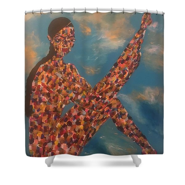 Pose II Shower Curtain