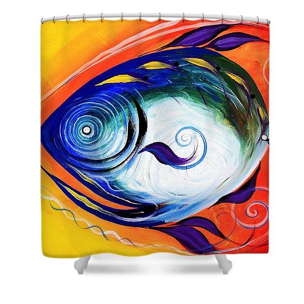 Positive Fish Shower Curtain