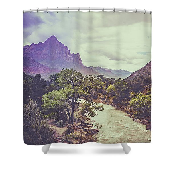 Postcard Image Shower Curtain
