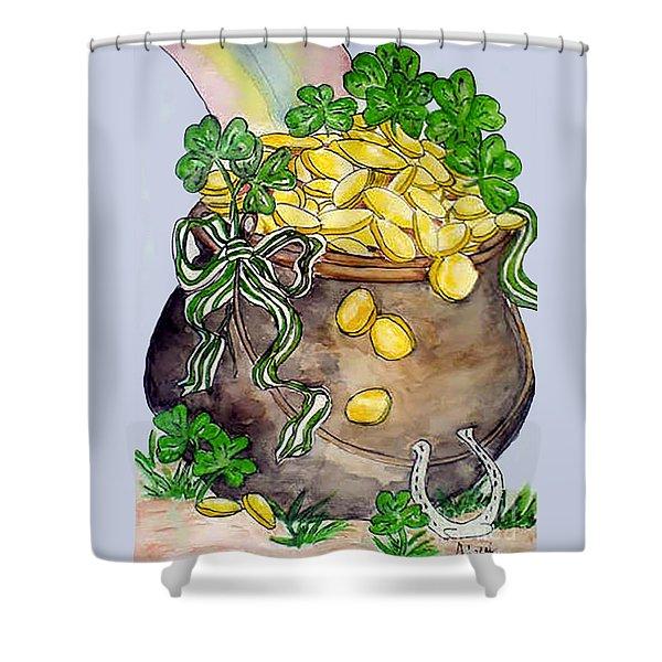 Pot-of-gold Shower Curtain