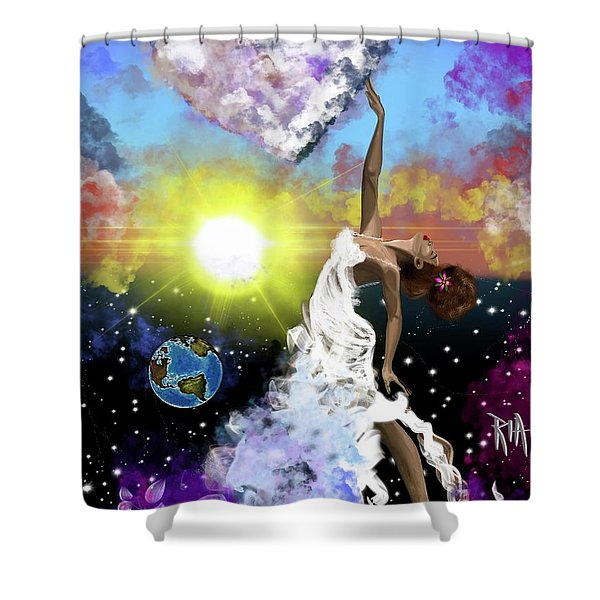 Prayer Before The Sun Sets Shower Curtain