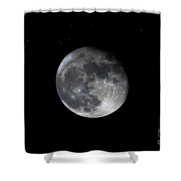 Shower Curtain featuring the photograph Pre Blood Red Wolf Supermoon Eclipse 873a by Ricardos Creations