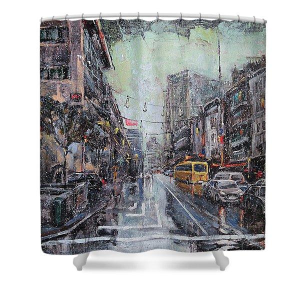 Pre-christmas Snow Shower Curtain