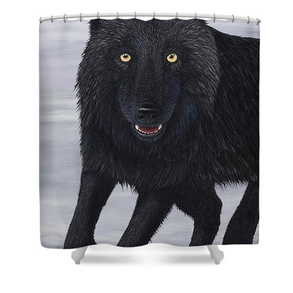 Shower Curtain featuring the painting Predator by Tracey Goodwin