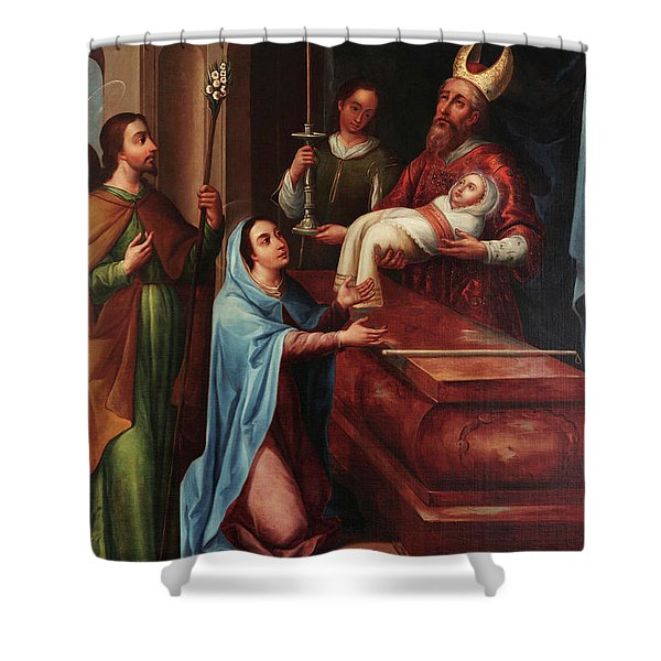 Presenation Of Jesus At The Temple Shower Curtain