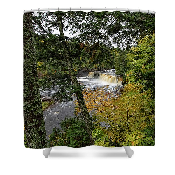 Shower Curtain featuring the photograph Presque Isle River 3 by Heather Kenward
