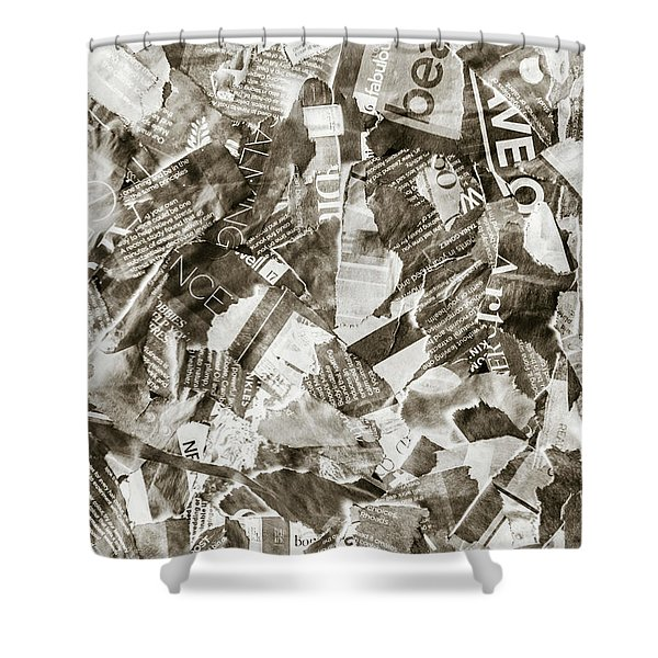 Press Print Parchment Shower Curtain
