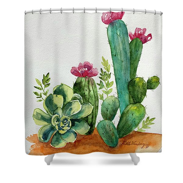 Prickly Cactus Shower Curtain