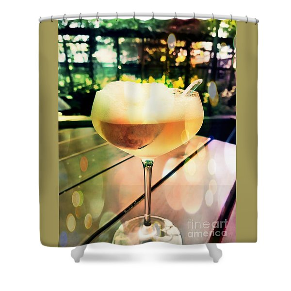 Prosecco Float Shower Curtain