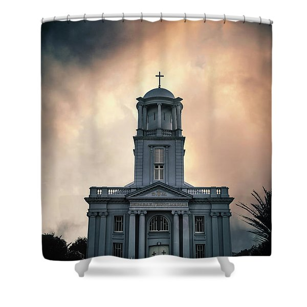 Psalm Before The Storm Shower Curtain
