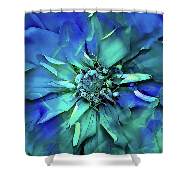 Psychedelic Blues Shower Curtain
