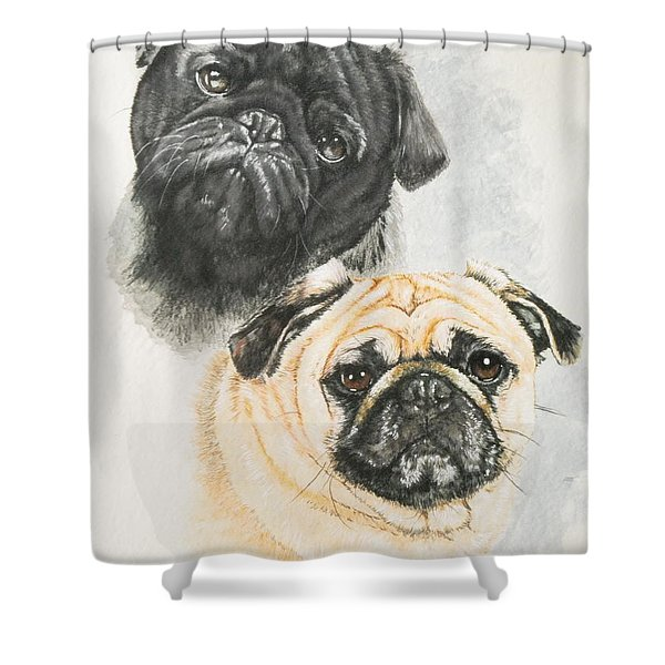 Pug Brothers Shower Curtain
