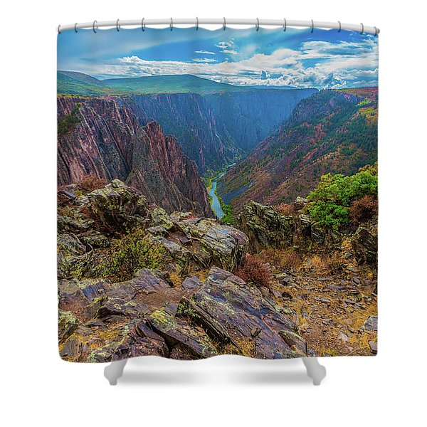Pulpit Rock Overlook Shower Curtain