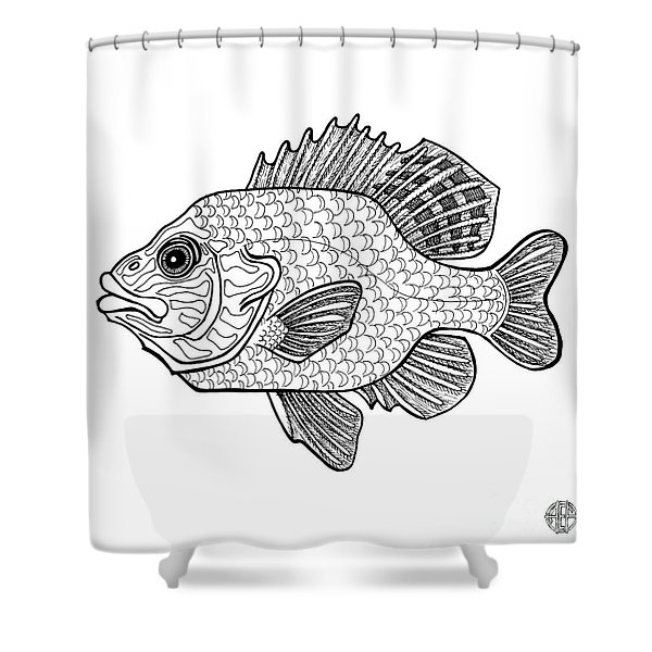 Pumpkinseed Fish Shower Curtain