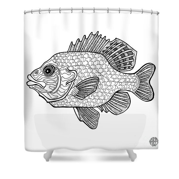 Pumpkinseed Fish Shower Curtain