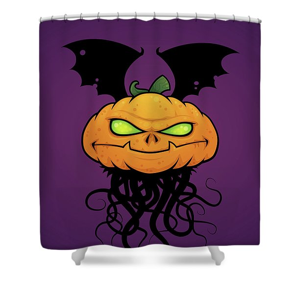 Punkin Monsta Shower Curtain