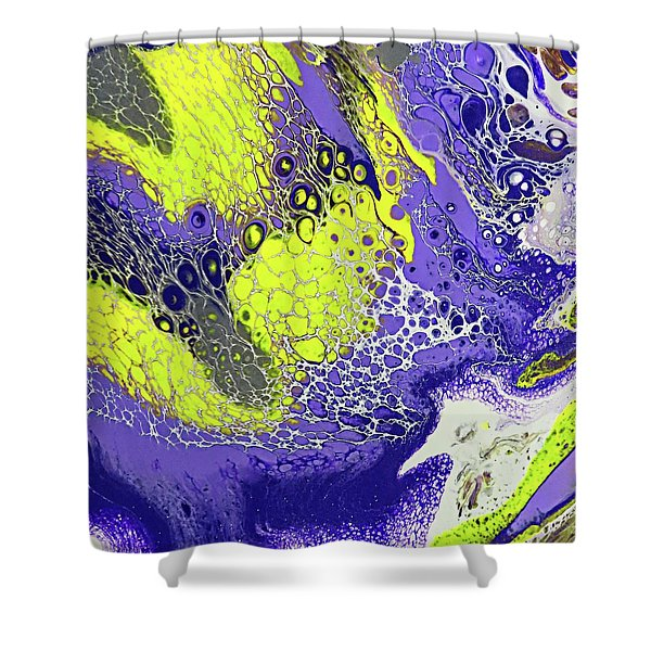 Purple And Yellow Shower Curtain