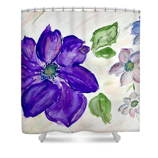 Purple Flower Shower Curtain