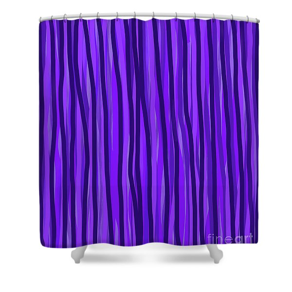 Purple Lines Shower Curtain