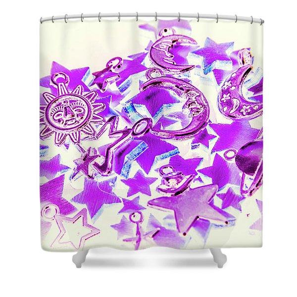 Purple Planetarium Shower Curtain