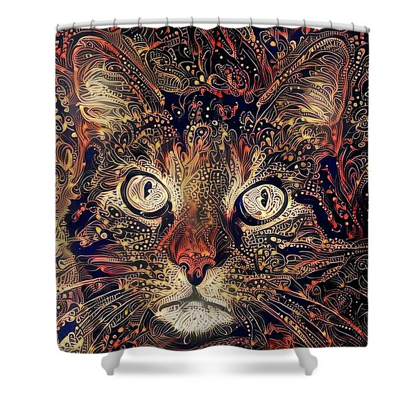 Mystic In Paisley Shower Curtain