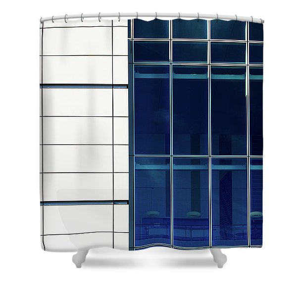 Quadrant Lines Shower Curtain