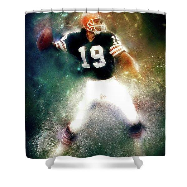 Quarterback Bernie Kosar Shower Curtain