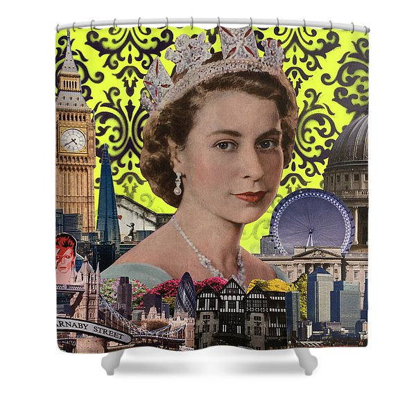Queen, 2015, (mixed Media) Shower Curtain