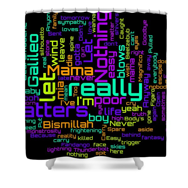 Queen - Bohemian Rhapsody Lyrical Cloud Shower Curtain