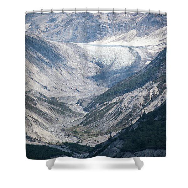 Queen Inlet Glacier Shower Curtain