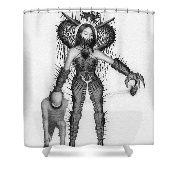 Queen Of Hearts - Artwork Shower Curtain