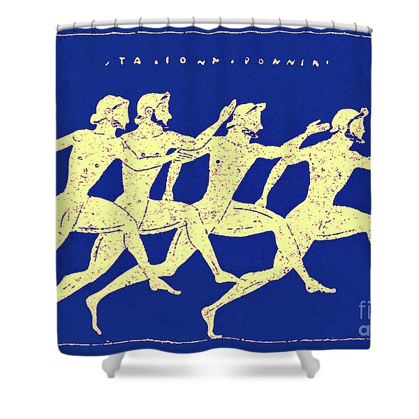 Race, Illustration From History Of Greece By Victor Duruy, 1890 Shower Curtain