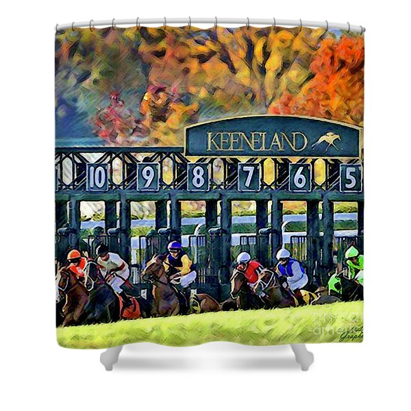 Fall Racing At Keeneland  Shower Curtain
