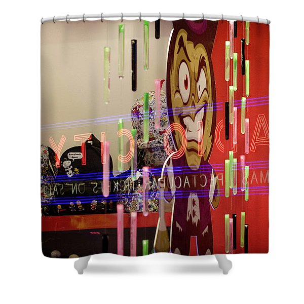 Radio City Reflection Shower Curtain