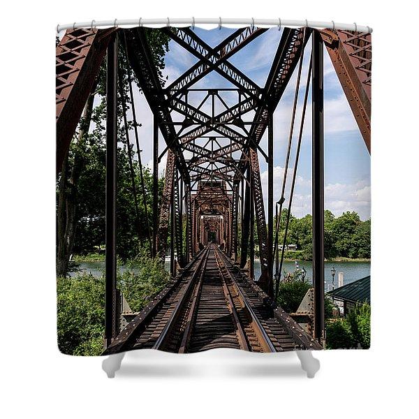 Railroad Bridge 6th Street Augusta Ga 1 Shower Curtain