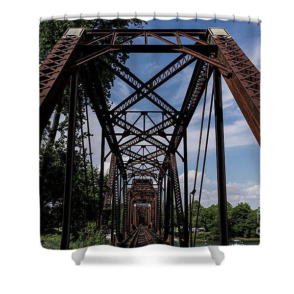 Railroad Bridge 6th Street Augusta Ga 2 Shower Curtain