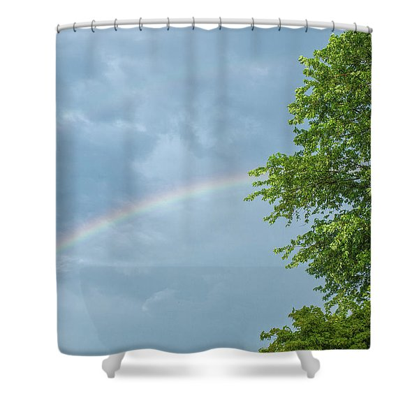 Rainbow And A Tree Shower Curtain