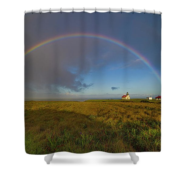 Rainbow At Point Cabrillo Shower Curtain
