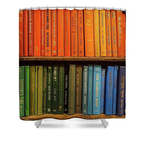 Rainbow Books Shower Curtain